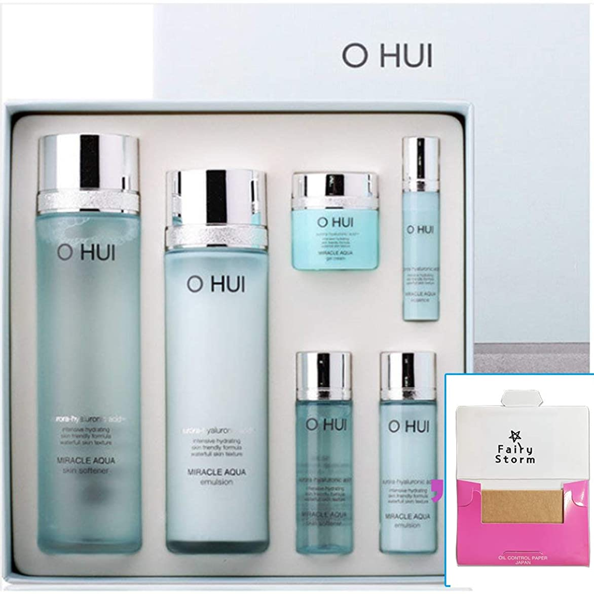 熟読する有限日付[オフィ/O HUI]韓国化粧品LG生活健康/O HUI MIRACLE AQUA SPECIAL 2EA SET/ミラクルアクア 2種セット+[Sample Gift](海外直送品)