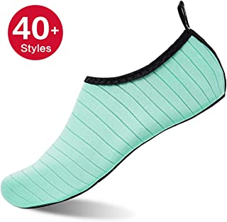 991ae8bf83be Womens and Mens Kids Water Shoes Barefoot Quick-Dry Aqua Socks for Beach Swim  Surf