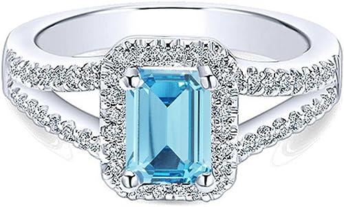 los clientes primero Vorra Fashion de la mujer joyas plata de ley 925chapado 925chapado 925chapado en platino blanco solitario w acento anillo  diseño simple y generoso