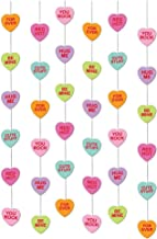 Valentine Multicolored Paper String Candy Hearts, 6 Ct.   Party Decoration