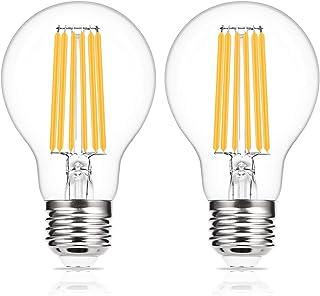 ドリスショップ フィラメント電球 E26口金 100W相当 LED電球 エジソン電球 クリア電球 電球色 全方向タイプ 省エネ 高輝度 一般電球形 アンティークスタイル 密閉形器具対応 2個入