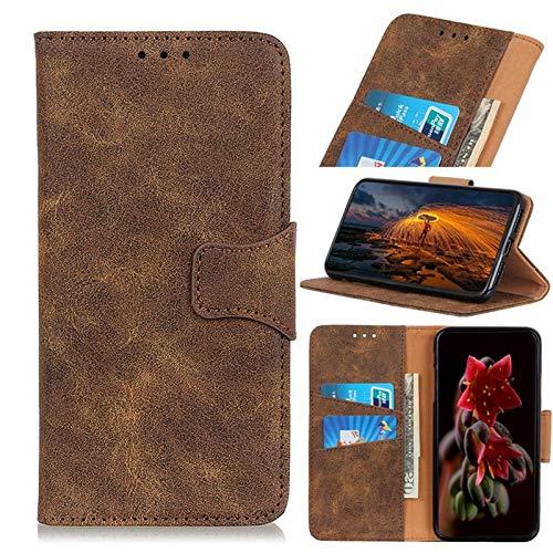 Zhaoruilong1163 Cartera de Cuero Retro PU con Cierre carismático para Xiaomi Redmi 8, Folio Stand Wallet Funda, para Xiaomi Redmi 8 Case (Color : Brown)