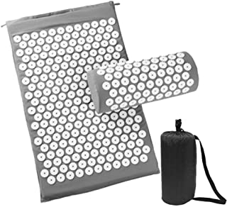Acupoint Acupressure Mat Set with Pillow, Massager Cushion Acupuncture Trigger Point for Back Neck Pain Sciatic Pain, Inso...