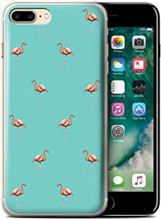 Stuff4® Phone Case/Cover/Skin/IP-CC/Cute Flamingo Cartoon Collection Oiseaux Exotiques/Vert Apple iPhone 7 Plus