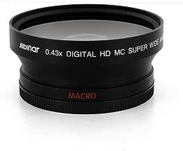 Albinar 0.43x 72mm Super Wide Angle HD Fisheye Lens with Macro - Black