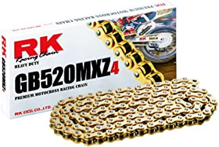 RK Racing Chain GB520MXZ4-120 120-Links Gold MX Chain with Connecting Link