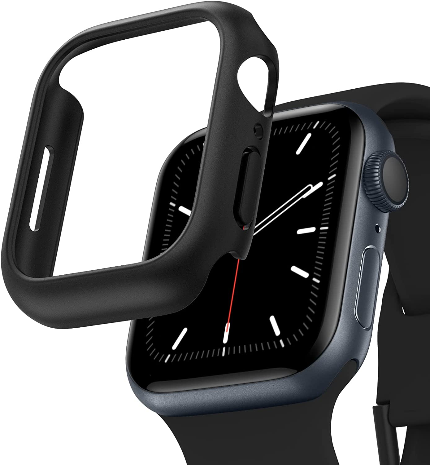 Recoppa Compatible for Apple Watch Case 45mm Series 7, Shockproof Ultra-Thin Hard PC Bumper Case All-Around Edge Protective Cover Frame[NO Screen Protector] for iWatch Accessories, Black