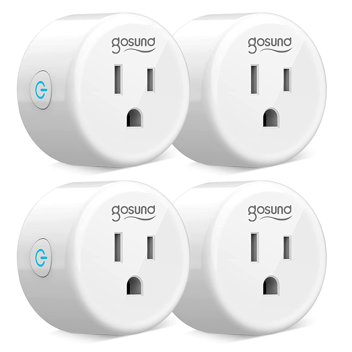 Mini Smart Plug Works with Alexa and Google Home, WiFi Outlet Socket Remote Control with Timer Function,No Hub Required ETL and FCC Listed(4 Pack)