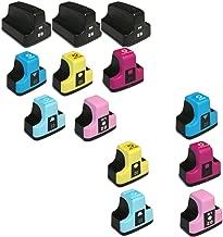 HOTCOLOR 13PK Remanufactured Replacement Ink Cartridges for HP 02XL HP 02 XL for Photosmart C5140 C5150 C5180 C6150 C6180 C6240 C6250 C6280 C7150 C7180 C7250 C7280 Printer