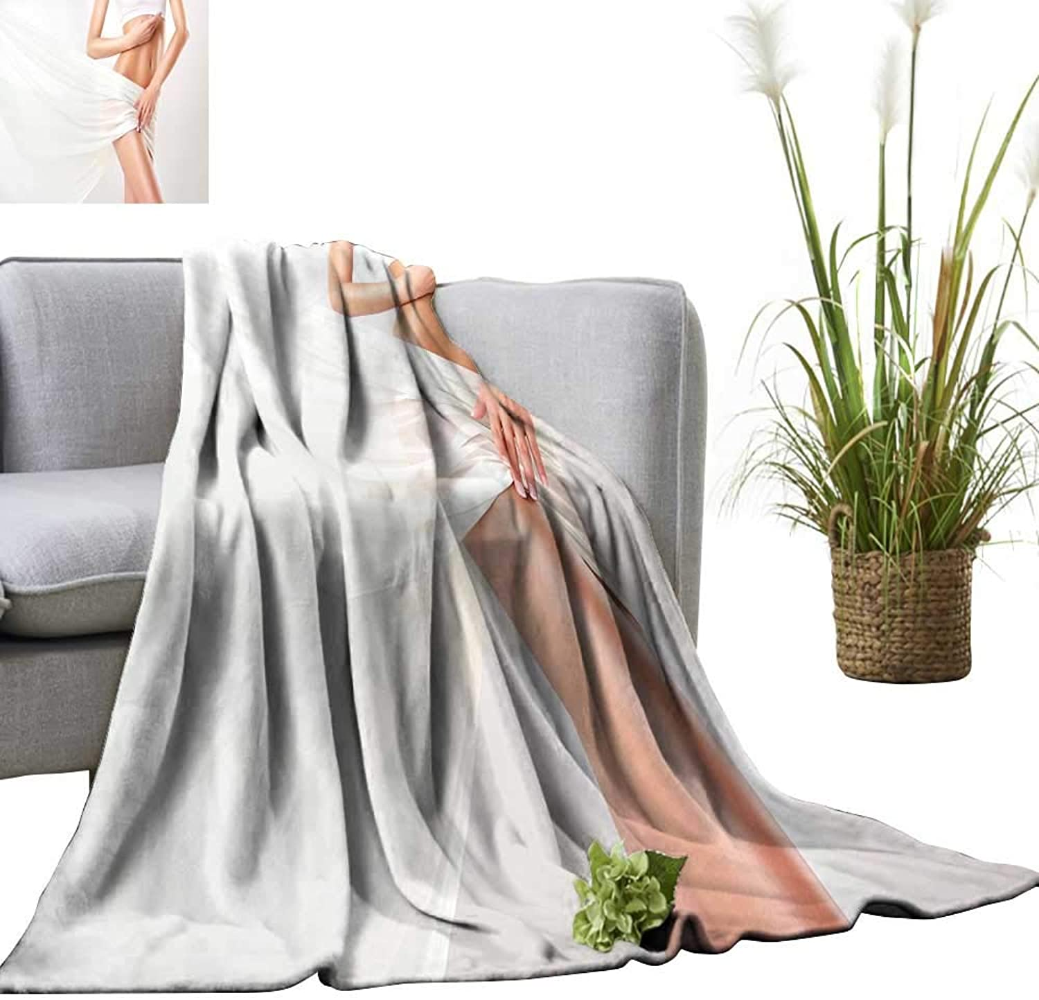 YOYI Single-Sided blanketperfect Slim Tone Young Body The Girl examplae Sports for Bed & Couch Sofa Easy Care 60 x63