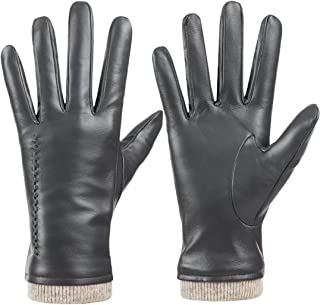 Sponsored Ad - Womens Winter Genuine Sheepskin Leather Gloves, Warm Touchscreen Texting Cashmere Lined Driving Motorcycle ...