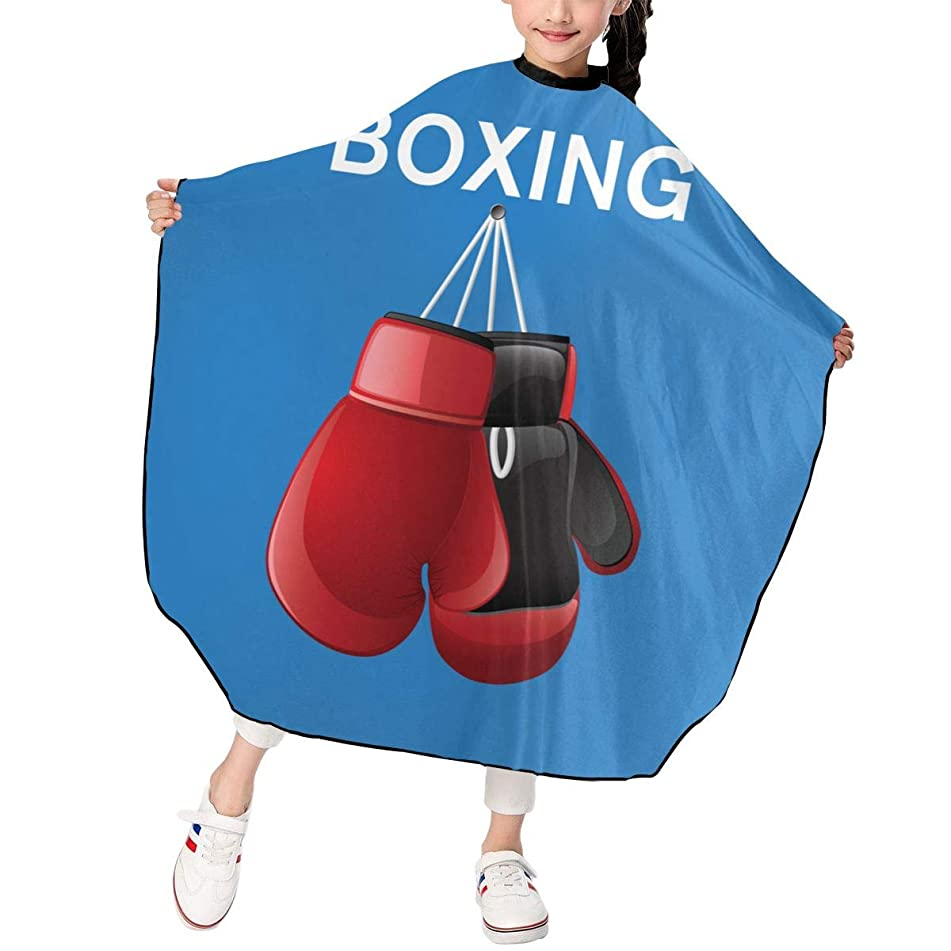 Hsanfwnzl Kids Haircut Barber Cape Red Boxing Gloves Apron Hairdressing Gown Cape Hair Salon Haircut Styling Smock Cover Cloth