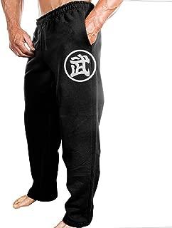 Mens Son Goku DBZ Japanese Comic Character LOGO Comfortable Hiphop Funny Sweatpants Leisure Wear Black