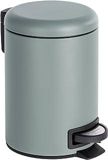 Wenko 22148100 Léman Poubelle Cosmétique à Pédale Acier Inoxydable Gris 17 x 25 x 22,5 cm 3 L