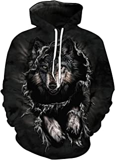 Multicolor,XXXXL iZHH Mens Hoodie Stylish 3D Printed Hooded Loose Long Sleeve Sweatershirt Tops