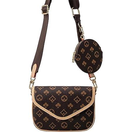 Aiovemc Damen Handtasche Umhängetasche Umhängetasche PU Gürtel Geldbörse Verstellbarer Schultergurt Fashion Lady