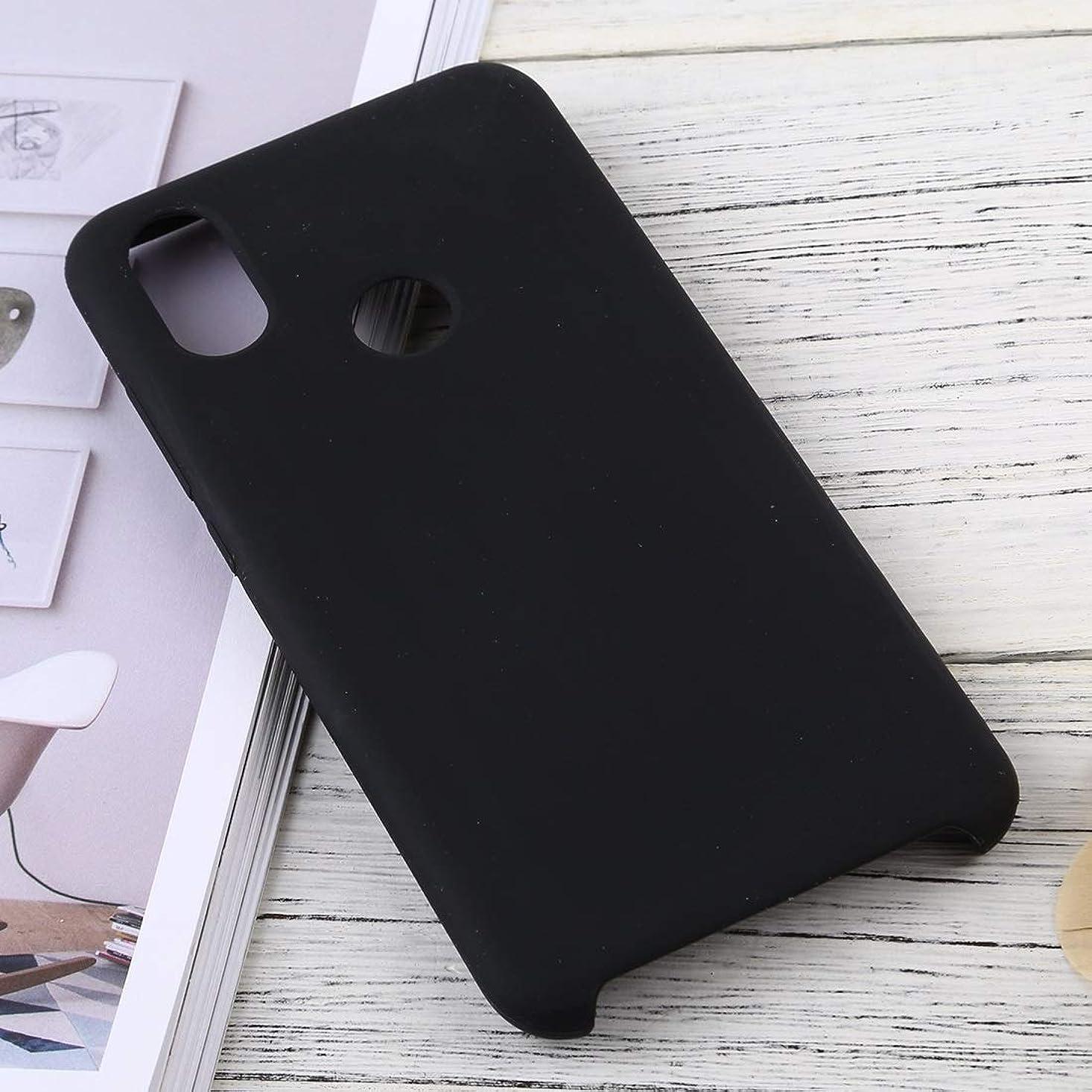 教えてリフレッシュ松小米科技ミ6Xソリッドカラー液状シリコーンDropproof保護ケースのための携帯電話ケース brand:TONWIN (Color : Black)