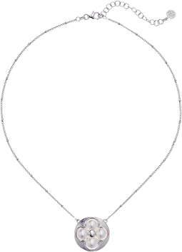 Majorica - 8mm Round Luck Sterling Silver 16-18 Necklace