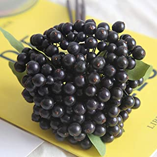Handley-1 Artificial Berry Stems Fruit, Fake Flower Bean Berry Flower Silk Berries for Holly Christmas Festival Holiday Home Decoration