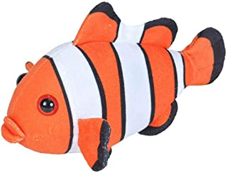 Wild Republic Clownfish, Soft Plush Toy, Gifts for Kids, Sea Critters, 20 cm