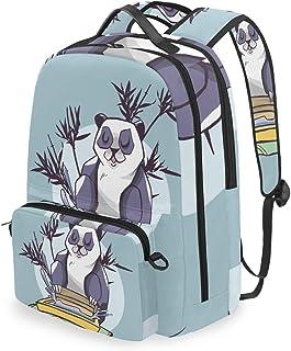 Mochila con bolsa cruzada desmontable, diseño de oso panda, para viaje, senderismo, acampada
