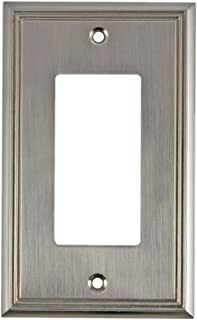 Rok Hardware Wall Plate Contemporary Decorative Rocker/GFCI Switch Plate (Brushed Nickel, 1 Gang)
