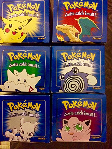 RED Pokemon '23k Gold Plated' Burger King Cards Set of 6