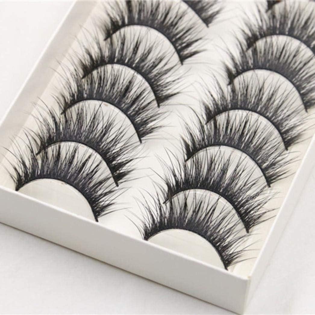 False Eyelashes SMYTShop 10 Pairs Long Cross Eyelash Luxury goods Thick New mail order