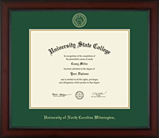 University of North Carolina Wilmington - Officially Licensed - Gold Embossed Diploma Frame - Diploma Size 14