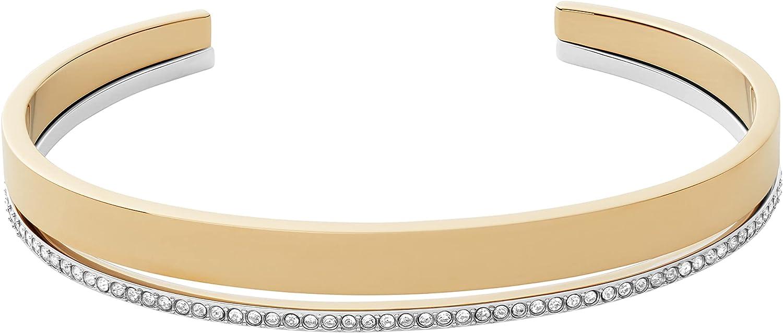 Agnethe Rose-Tone Stainless Steel Pearl Chain Bracelet