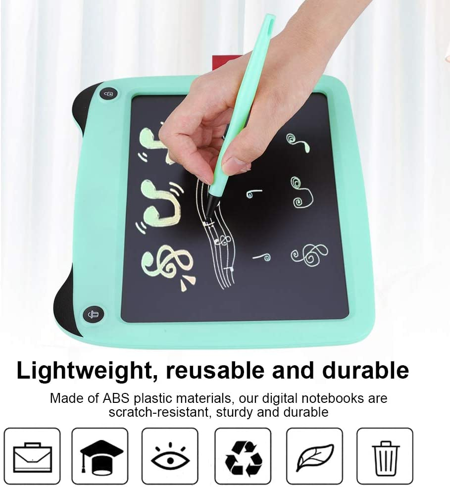 Mint Green 9-inch Portable Smart LCD Colorful Writing Tablet Electronic Notepad Drawing Board as a Present Suitable for Children and Adults