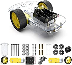 Dmyond 2 Wheels DIY Robot Smart Car Chassis Kit with Speed Encoder, Wheels and Battery Box (2 Wheels)