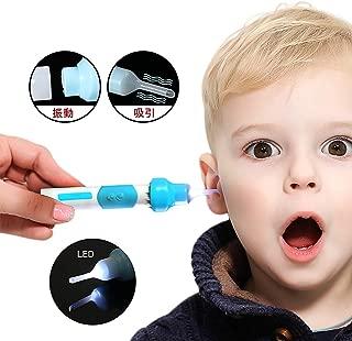 耳かき 耳掃除機 電動 LEDライト付き 耳掃除 耳すっきりクリーナー みみかき 耳のケア スプーン型 耳垢除去キット 耳あか 吸引 振動&吸引式 ソフトポケットイヤークリーナー 専用収納ケース付き