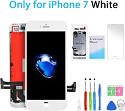 QI-EU Compatible with iPhone 7 Screen Replacement White 4.7 Inch Model A1660 A1778 A1779 3D Touch LCD Display Digitizer Assembly kit with Repair Tools,Replacement Manual,Screen Protector
