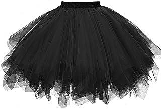 Falda de Tutu Mujer,SHOBDW Pettiskirt Sólido Gasa Plisada Falda Corta Vestidos de Baile Regalos de Cumpleaños Traje Rendimiento Adulto Tutu Baile Falda