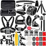Neewer 50-In-1 Kit di Accessori per Action Camera per GoPro 8 GoPro Hero 7 6 5 4 Hero Session 5 Apeman DJI OSMO Action SJ6000 DBPOWER AKASO VicTsing Rollei Lightdow Campar