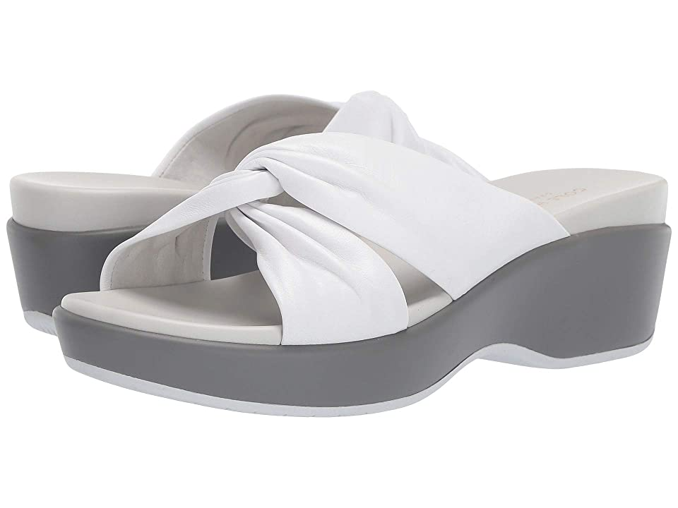 Cole Haan Aubree Grand Knotted Slide Sandal (White Nappa) Women