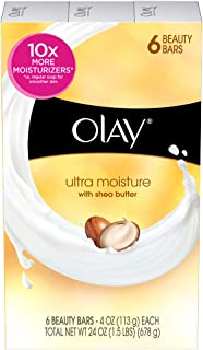 Olay Ultra Moisture Beauty with Shea Butter Bar Soap 6 ct