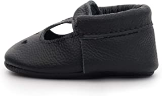 BirdRock Baby Mary Jane Moccasins - Genuine Leather Soft Sole Baby Girl Shoes for Newborns, Infants, Babies, and Toddlers
