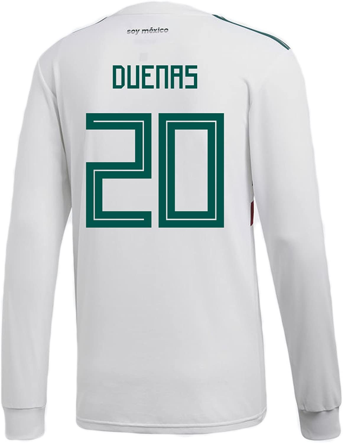 Adidas Duenas  20 Mexico Away Men's Long Sleeve Soccer Jersey World Cup Russia 2018