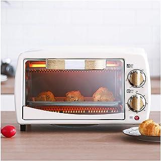FUDIV Mini Horno eléctrico Hogar Multifunción Horno automático Pastel de sobremesa Horno pequeño 10L Calentamiento Funcionamiento rápido Simple 800 vatios Blanco