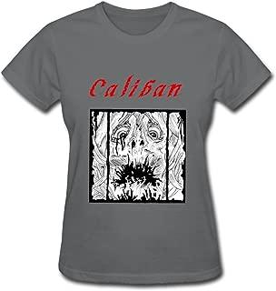 Women Awesome Pre-cotton Caliban T-shirt Size XS Color DeepHeather