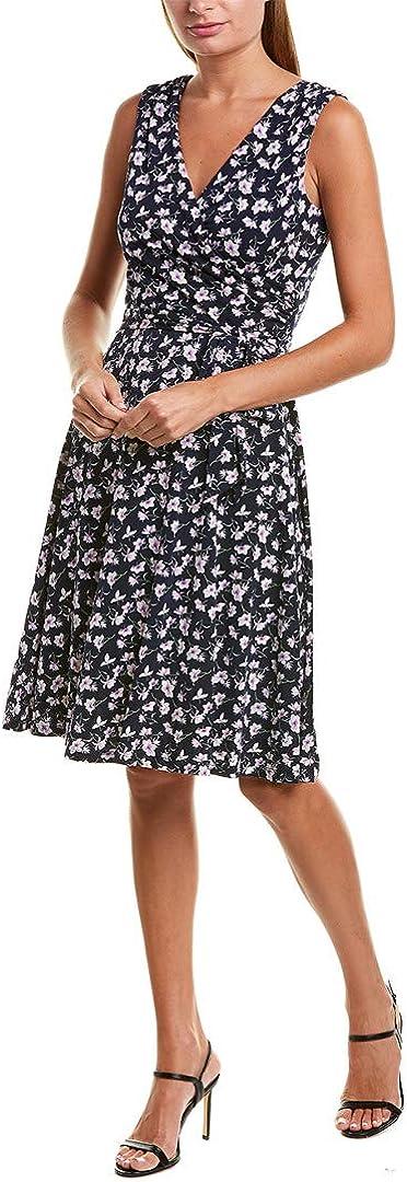 Jessica Howard Women's Sleeveless Surplice Faux Wrap Dress