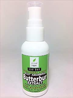 Fast Absorbing Butterbur Extract — 5,000 mcg (Equivalent to 75 mg Oral Dose), Premium 150 DAY Sublingual Liquid Supplement by NUTRA Lingual™- NATURAL PAIN and ALLERGY RELIEF