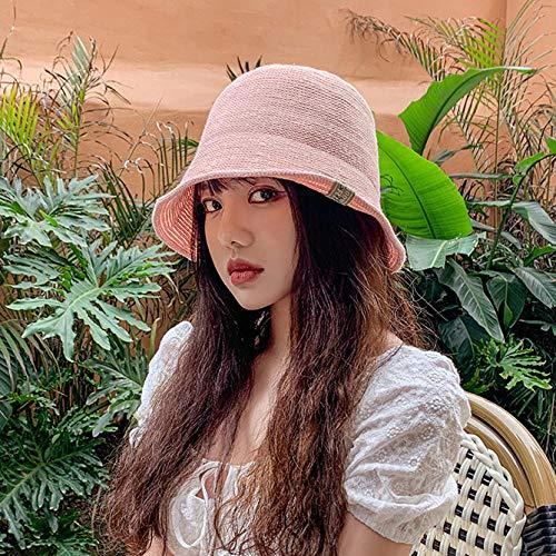 Sombrero de Cubo de Seda de Leche Serie Mori paño estándar Cuenca Tejida Sombrero Mujer Color sólido Pescador Sombrero-9_1