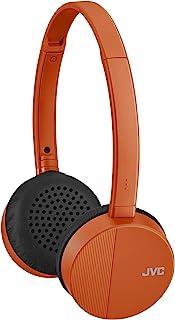 JVC HA-S23W - Auriculares inalámbricos con Bluetooth, diseño Plano Plegable, 17 Horas de duración de la batería (Naranja)