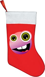 Smiley Sad Emotionss Unhappy Face Head Christmas Stocking | For Kids, Teens, Adults | Christmas Holiday Decor Theme