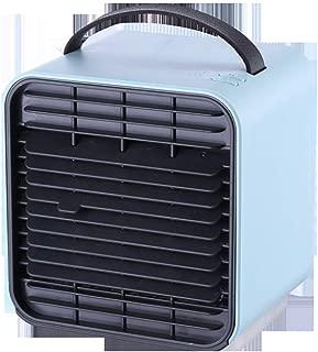 SHANGRUIYUAN-Mini Fan Multifunction USB Mini Fan USB Portable Negative Ion Air Cooler Fan with LED Light (Color : Blue)