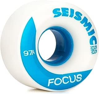 Seismic Focus Longboard Wheels - 55mm 97a White