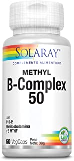 SOLARAY®. Methyl B complex 60VegCaps. Sin gluten. Apto parta veganos.